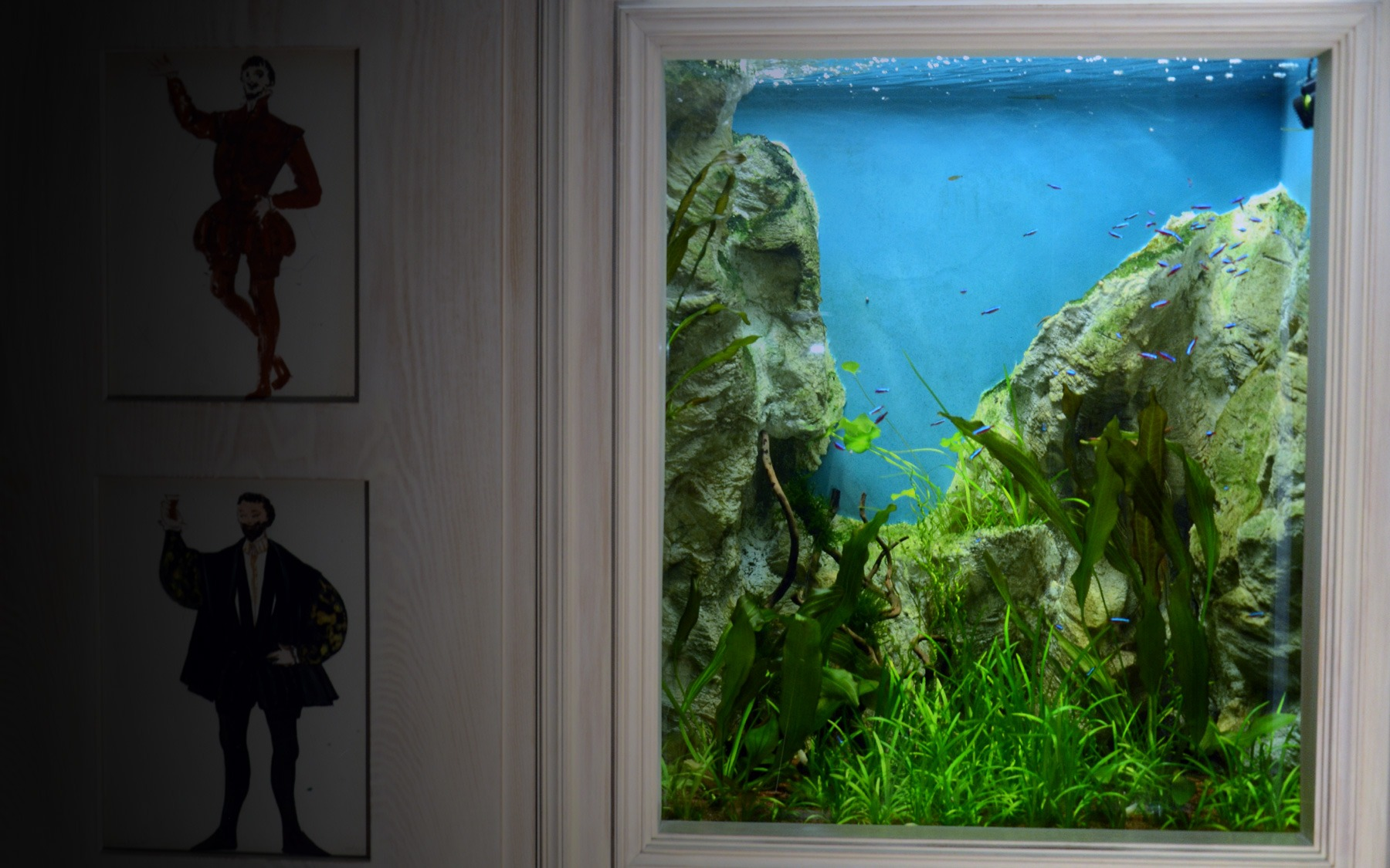 Aquarium sur mesure encastr oc an d 39 interieur for Aquarium interieur