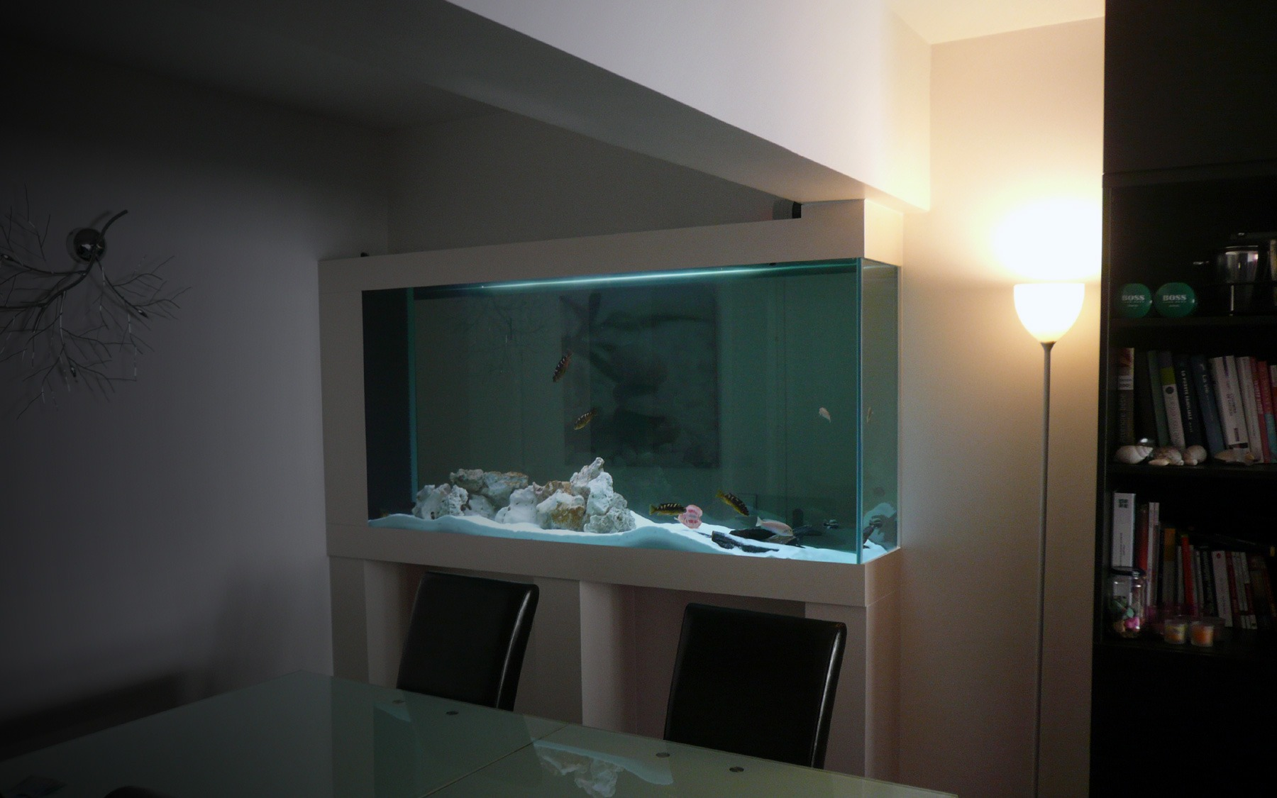 aquarium sur mesure de s paration oc an d 39 interieur. Black Bedroom Furniture Sets. Home Design Ideas